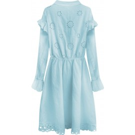 BAVLNĚNÉ ŠATY BABY BLUE (303ART)