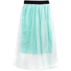 ETHEREAL sukně délka MIDI máta (96ART)